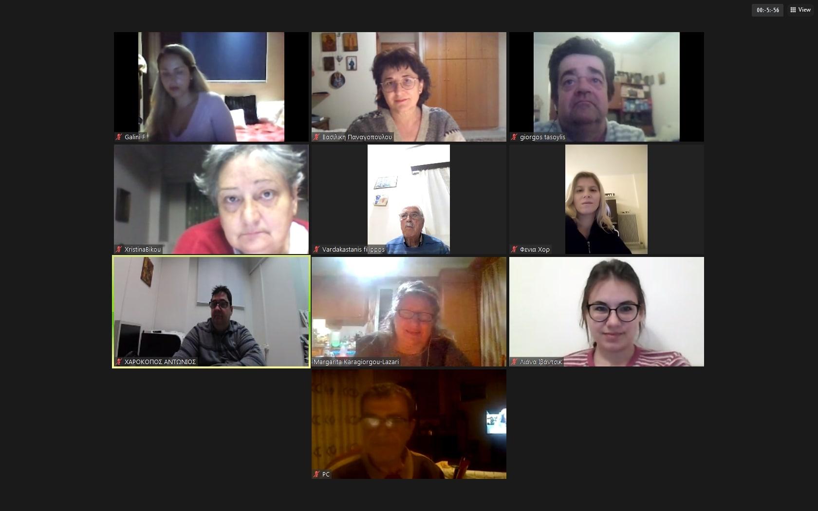 Συνεδρίαση Διοικητικού Συμβουλίου Π.ΟΜ.Α.μεΑ Δ.Ε. & Ν.Ι.Ν. 23-02-21